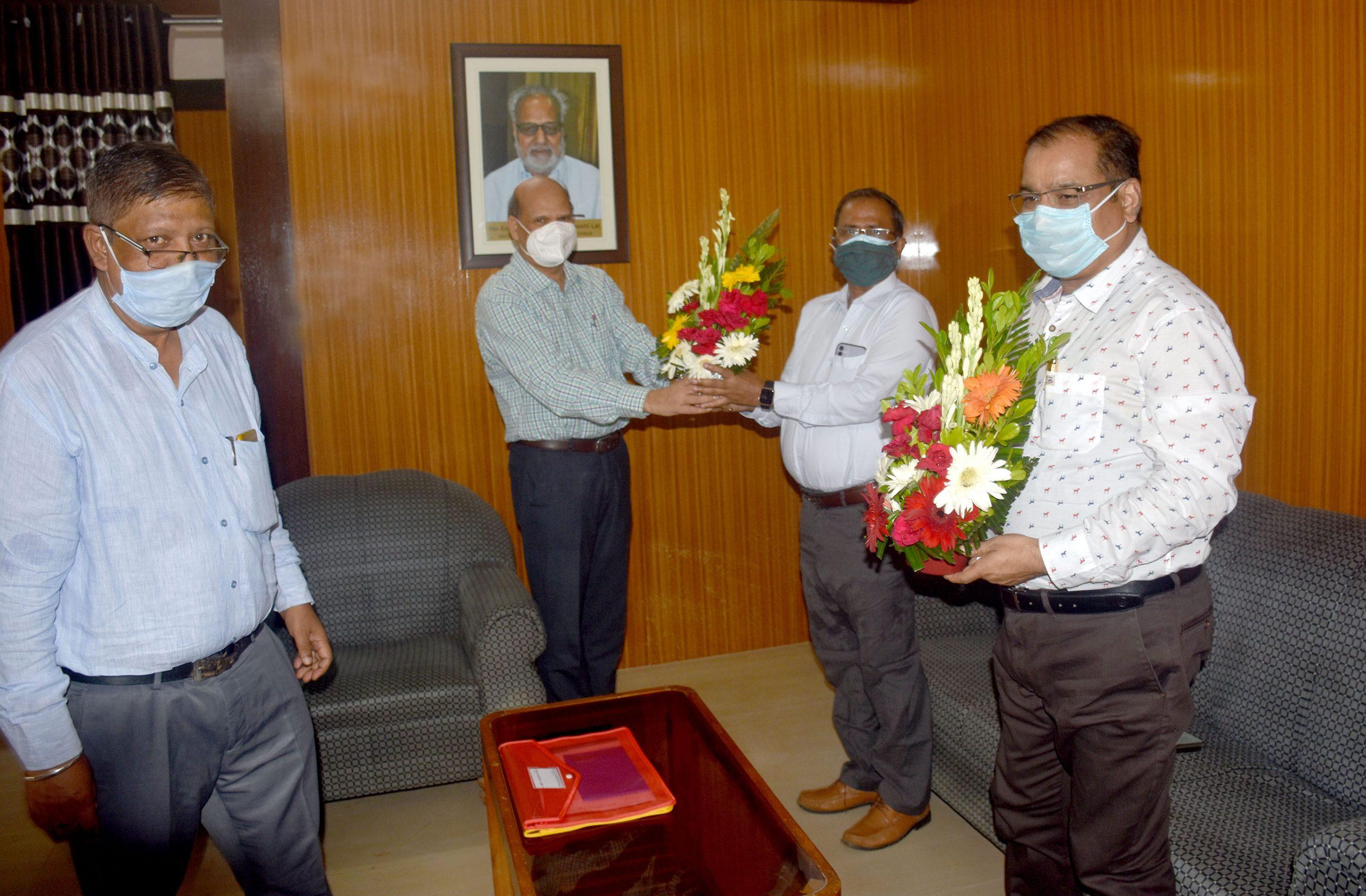 Commissioner-cum-Secretary, Dr. Suresh Chandra Dalai, IAS and Director, Sri Ranjan Kumar Das, IAS visited Utkal University of Culture on 19th July,2021